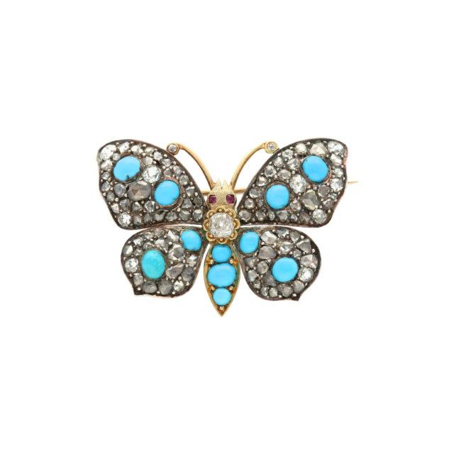BR-001-Paulinesjewellerybox-turquoise-brooche